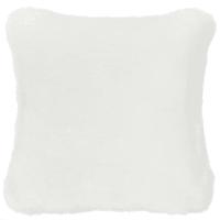 Kissen  aus Kunstfell, 45x45cm, weiß Snowdown