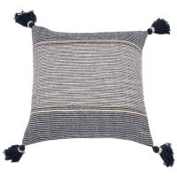 Kissenbezug aus Baumwolle, blau 40x40 Syrius