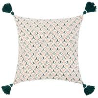 LAVRADAS - Kissenbezug aus Bio-Baumwolle mit grafischen Motiven, 40x40cm