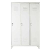 Kleiderschrank im Industrial-Stil aus Metall, B 115cm, weiß Loft