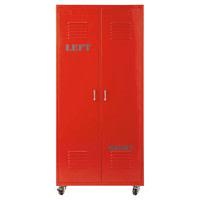 Kleiderschrank im Industrial-Stil aus Metall, B 85cm, rot Red Red