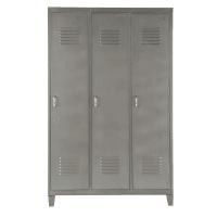 Kleiderschrank/Spind aus grauem Metall Loft