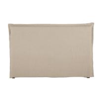 Kopfteilbezug  aus gewaschenem Leinen, 180 cm, beige Morphée