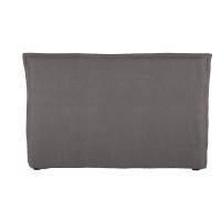 Kopfteilbezug  aus gewaschenem Leinen, 180 cm, grau Morphée