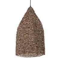 ORSO - Lampada a sospensione a campana nera e marrone