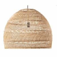 WILD - Lampada a sospensione in rattan intrecciato 60 cm