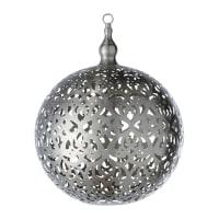 Lampada a sospensione sferica non elettrificata in metallo cesellato Rabia