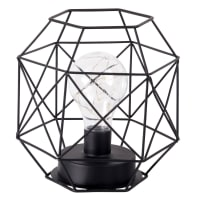 Lampada nera in fili di metallo
