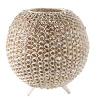 Lampada sferica in rattan bianco Lagos