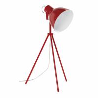 Lampada su treppiede in metallo rosso Maestro