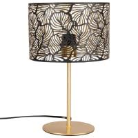JODIE - Lampe ajourée en métal doré et noir