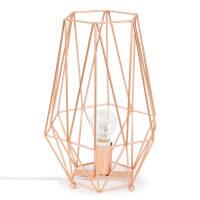 Lampe aus Metall kupferfarben Origami Copper
