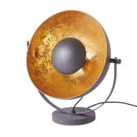 Lampe aus Metall, schwarz und goldfarben Rock Light