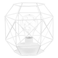 Lampe aus weißem Metalldraht