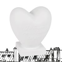 Lampe cœur en céramique blanche Chantal Thomass