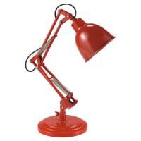 Lampe en métal rouge H 49 cm Paterson
