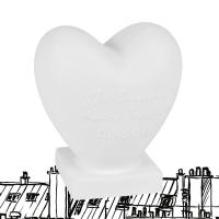 Lampe in Herzform aus weißer Keramik Chantal Thomass
