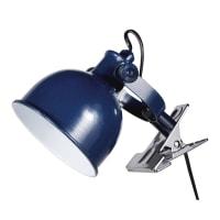 Lampe pince en métal bleu marine Marin