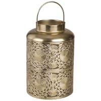 Lanterna in metallo traforato dorato Masira