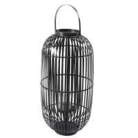 Lanterne en bambou noir Mana