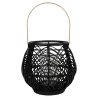 Lanterne en bambou noir et métal Lila
