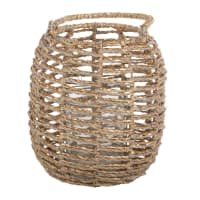Lanterne en bambou tressé à paillettes dorées Semlalia