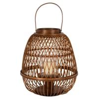ARDA - Lanterne en bambou tressé et verre