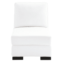 Leather low sofa in white W 62cm Terence