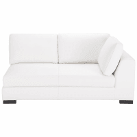 Leather RHF modular sofa bed in white Terence