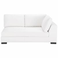 Leather RHF modular sofa in white Terence
