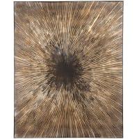 LULABIA - Lienzo pintado en marrón, dorado y negro 80x100 cm