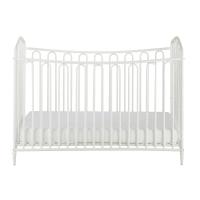 Lit bébé à barreaux en métal blanc cassé L126 Juliette