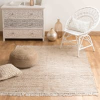cotton and jute woven rug 200 x 300cm Lodge