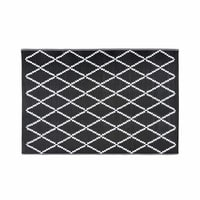 Black and White Geometric Motif Outdoor Rug 120x180 Losia