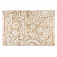 white cotton and jute rug 140 x 200 cm Lukila