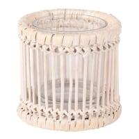 Lumignon en bambou, rotin et verre Filomene