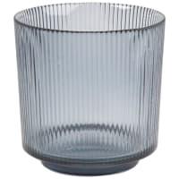 Lumignon en verre strié gris