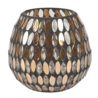 Lumignon mosaïque en verre ambré
