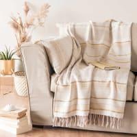 TERGIT - Manta de algodão às riscas 160x210