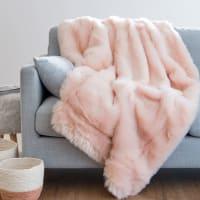 Manta de imitación a piel rosa 150x180 Altai