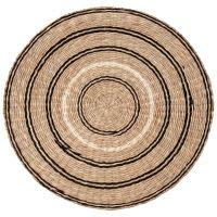 Mantel individual de fibra vegetal negra Bayad