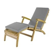 Matelas chaise longue gris Oléron