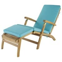 Materasso turchese per chaise longue L 185 cm Oléron