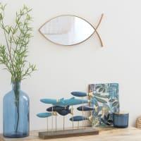 Matte Gold Metal Fish Mirror 40x19
