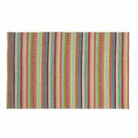 Meerkleurig gestreept katoenen  tapijt 120 x 180 cm Twist