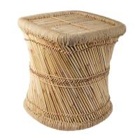 Mesa auxiliar de bambú y metal Mogale