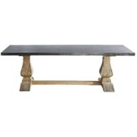 LOURMARIN - Mesa de comedor de metal y madera reciclada 10 personas L.240