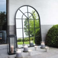 Metal Mirror in Black 92x135 Orangerie