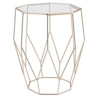 Metal Wire and Glass Side Table Jaya