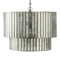CHARLEROI - Metalen hanglamp met spiegelachtige facetten